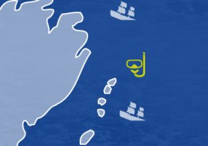 Kanion wyspa Greben -